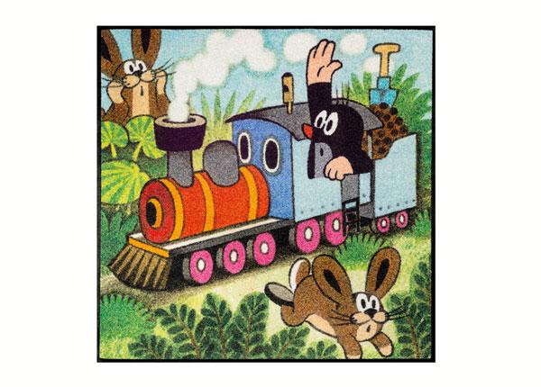 Ковёр Der kleine Maulwurf - fährt Zug 85x85 cm A5-138653