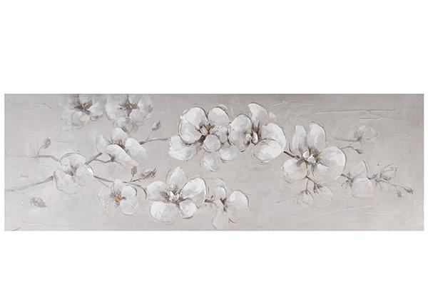 Масляная картина Белые орхидеи 50х150 см EV-139160