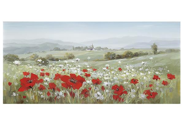 Масляная картина Пейзаж / маки 70x140 см EV-139163