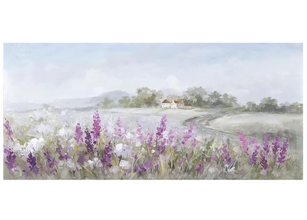 Масляная картина Пейзаж / лаванда 70х140 см EV-139167