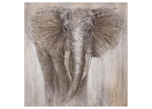 Масляная картина Слон 100x100 см EV-139361