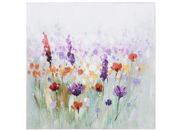 Масляная картина Разноцветные цветы 30x30 см EV-139363