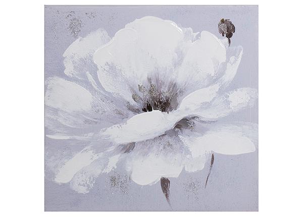 Масляная картина Белый цветок 30x30 см EV-139365