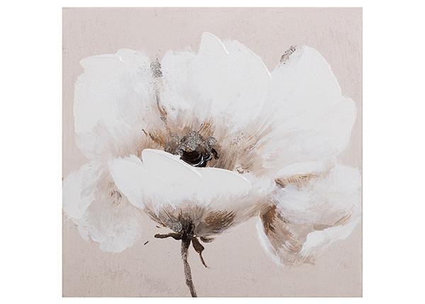 Масляная картина Бежевый цветок 30x30 см EV-139366