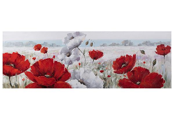 Масляная картина Красные маки 50x150 см EV-139374