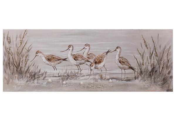 Масляная картина Птицы 50x150 см EV-139378
