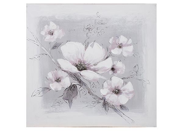 """Масляная картина """"Белые цветы"""" 60x60 cm EV-139445"""