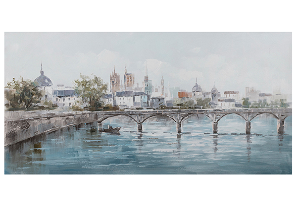 Масляная картина Город на берегу речки 70x140 cm EV-139446