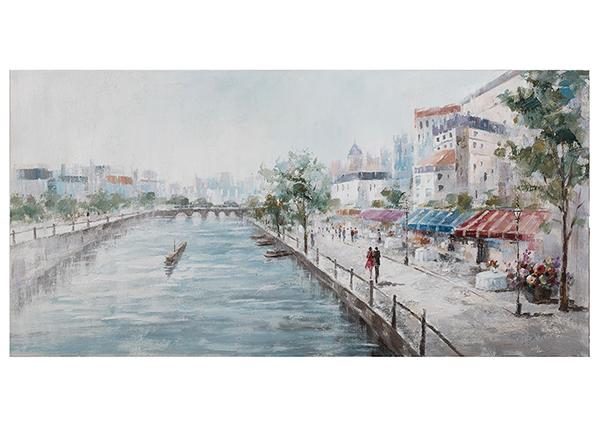 Масляная картина Кафе на берегу речки 70x140 cm EV-139448