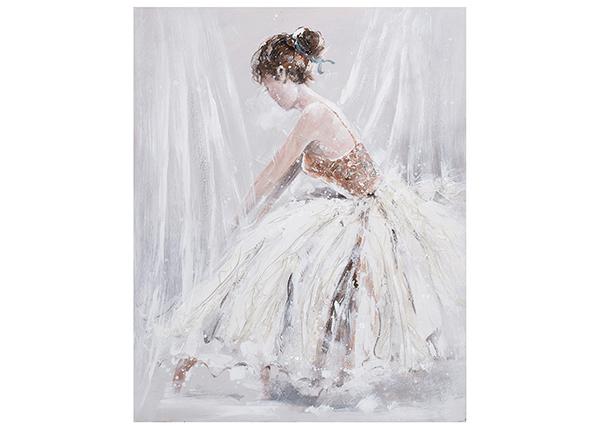 Масляная картина Женщина в белом платье 80x100 cm EV-139484