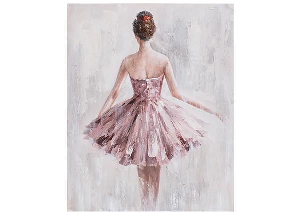 Масляная картина Женщина в розовом платье 80x100 cm EV-139485