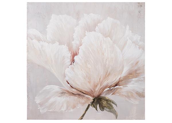Масляная картина Белый цветок 100x100 cm EV-139489