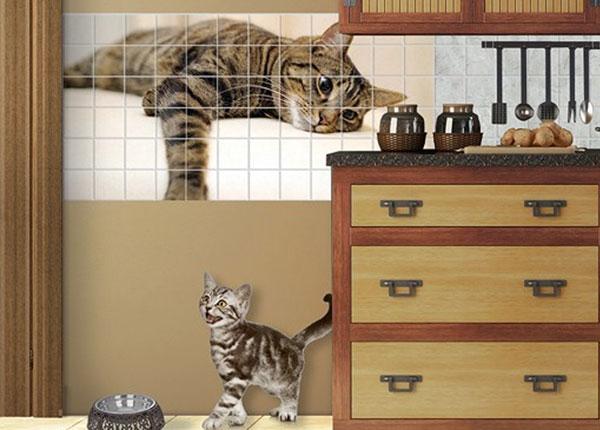 Наклейки на плитку Cat Chill Out 60x120 cm