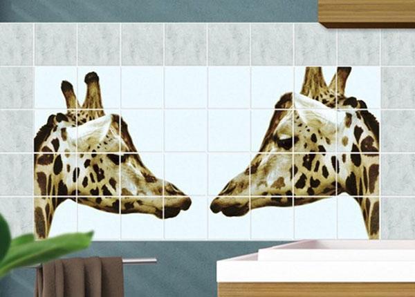 Наклейки на плитку Giraffes In Love 60x120 cm