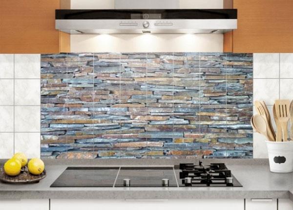 Наклейки на плитку Colourful Stone Wall 60x120 cm