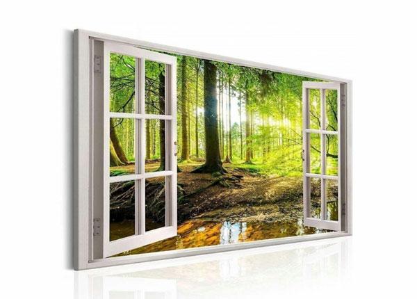 Настенная картина Forest view window 120x80 cm ED-139717