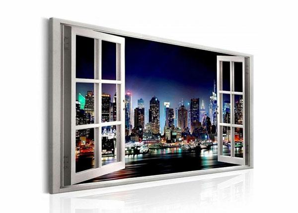 Настенная картина New York view window 120x80 cm ED-139719