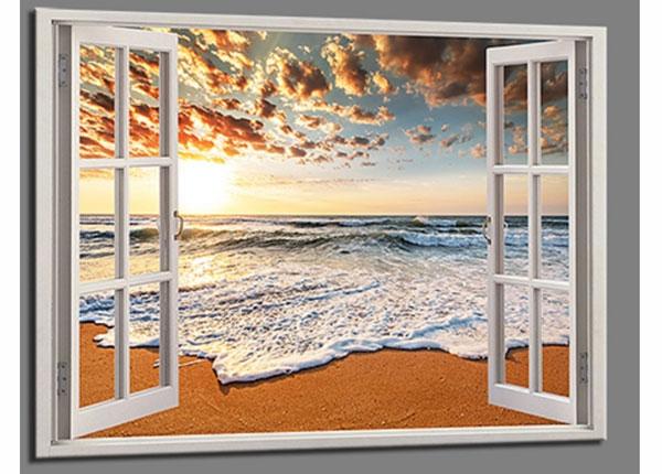 Настенная картина Beach view window 120x80 cm ED-139721
