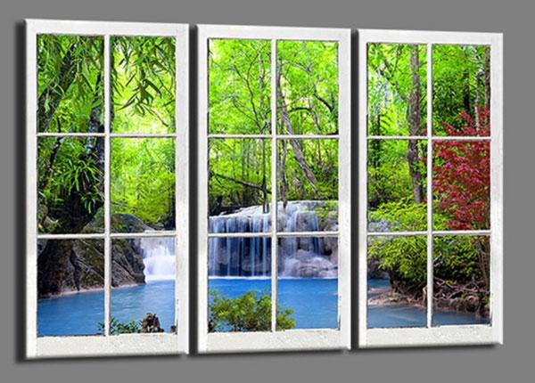 Картина из 3-частей Window waterfall 120x80 cm ED-139731