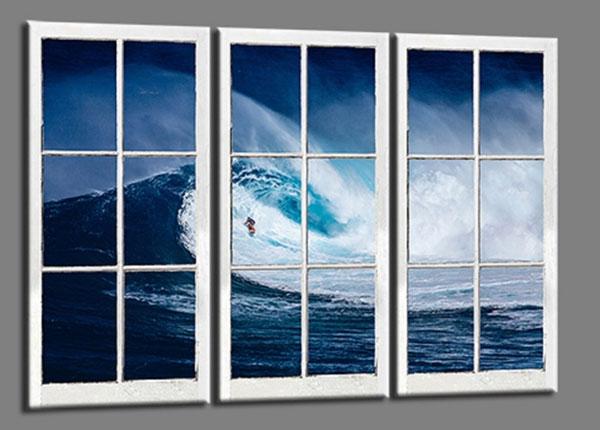 Картина из 3-частей Surfer Wave 120x80 cm ED-139732