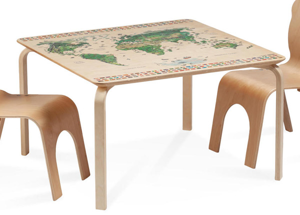 Детский стол Pippa с картой мира Regio TO-139904
