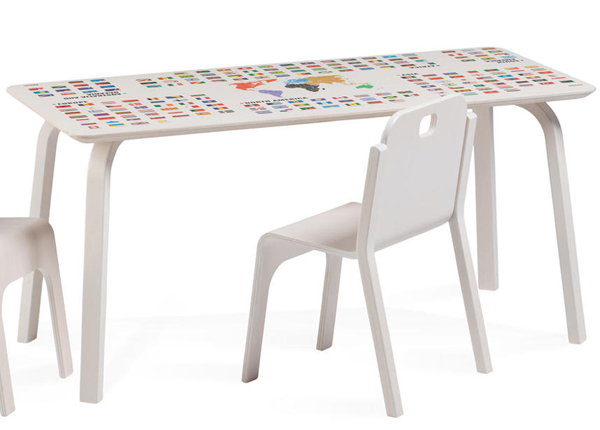 Детский стол Tommy 2 с картой мира Regio TO-139910