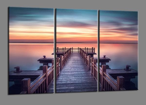 Картина из 3-частей Bridge Lake 160x90 cm ED-139941