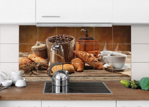 Наклейки на плитку Breakfast table 60x120 cm ED-139956