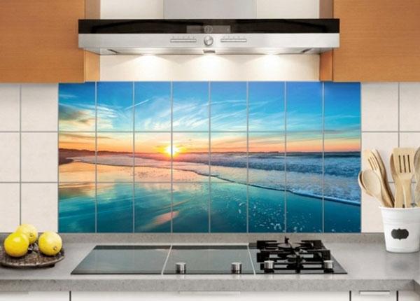 Наклейки на плитку Romantic sunset by the sea 60x120 cm