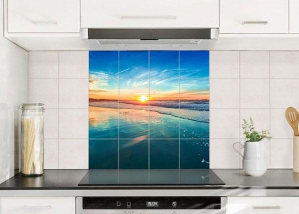 Наклейки на плитку Romantic sunset by the sea 120x120 cm ED-139966