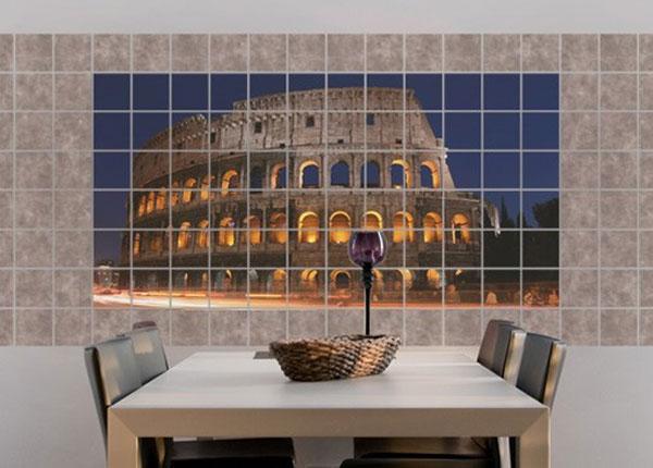 Наклейки на плитку Colosseum in Rome at night 60x120 cm