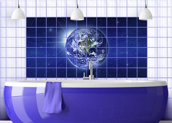 Наклейки на плитку Earth in space 60x120 cm