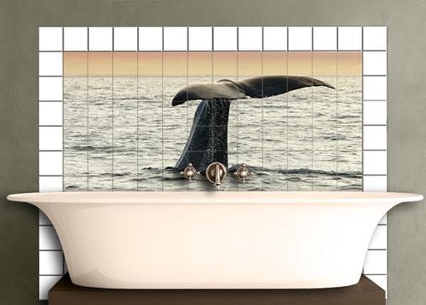 Наклейки на плитку Diving Whale 60x120 cm ED-140496