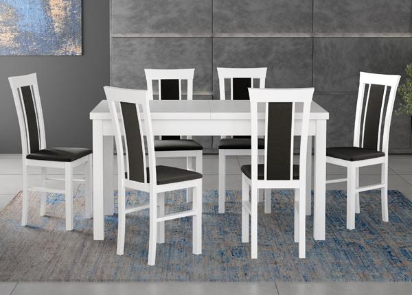 Удлиняющийся обеденный стол + 6 стула CM-140521