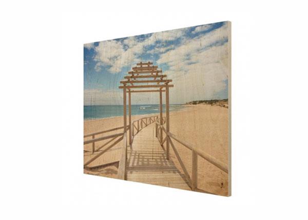 Настенная картина на древесине Beach path to the sea in Andalusia