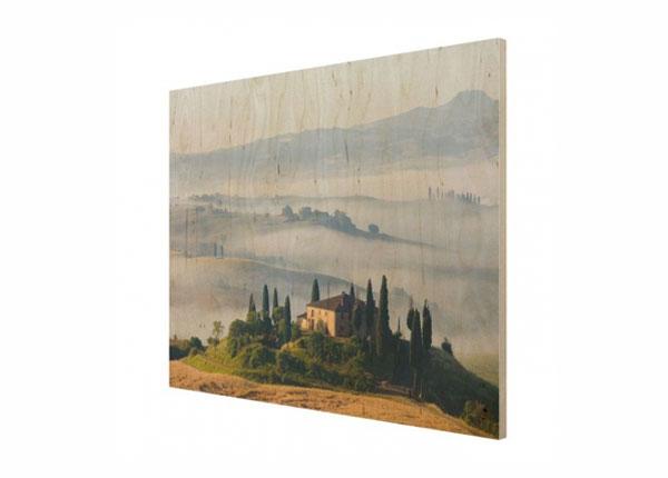 Настенная картина на древесине Country House in Tuscany