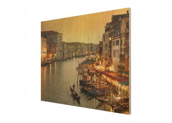 Настенная картина на древесине Grand Canal of Venice ED-140699