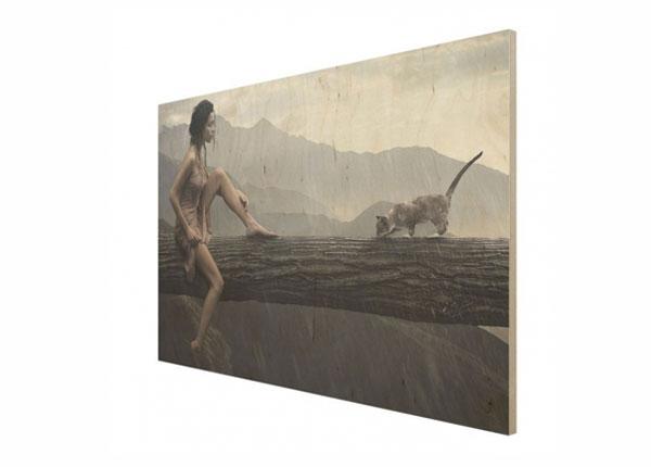 Настенная картина на древесине Jane in the Rain ED-140927