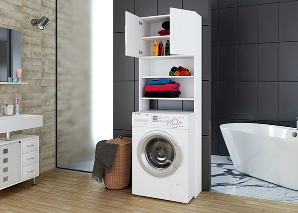 Высокий шкаф в ванную Jutas SM-140981
