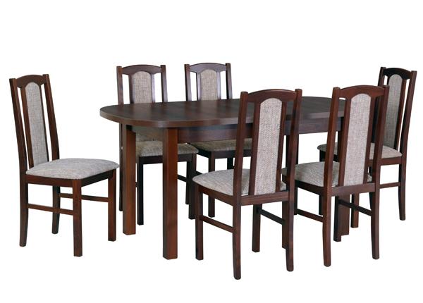 Удлиняющийся обеденный стол + 6 стула CM-140994