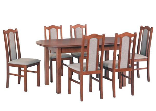 Удлиняющийся обеденный стол + 6 стула CM-141028