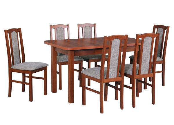 Удлиняющийся обеденный стол + 6 стула CM-141058