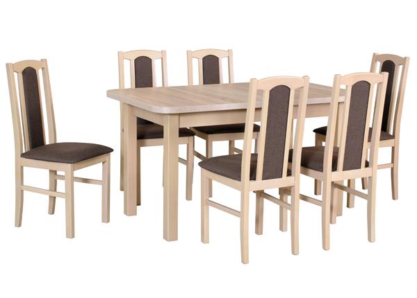 Удлиняющийся обеденный стол + 6 стульев CM-141091