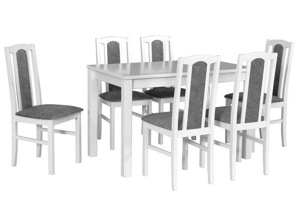Удлиняющийся обеденный стол + 6 стульев CM-141107
