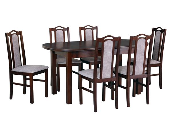 Удлиняющийся обеденный стол + 6 стульев CM-141110