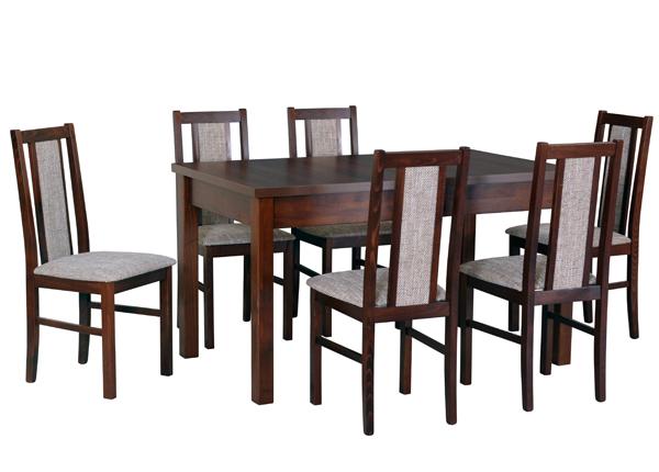 Удлиняющийся обеденный стол + 6 стульев CM-141114