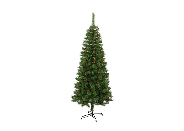 Искусственная елка с шишками и ягодами 195 см AA-141131