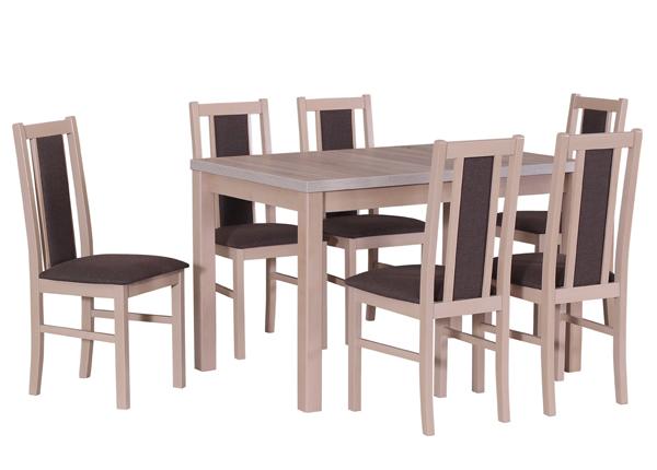 Удлиняющийся обеденный стол + 6 стульев CM-141133