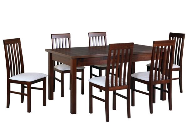 Удлиняющийся обеденный стол + 6 стульев CM-141143