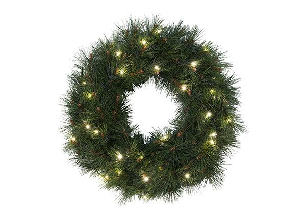 Венок Pine с LED лампочками Ø50 cm AA-141227